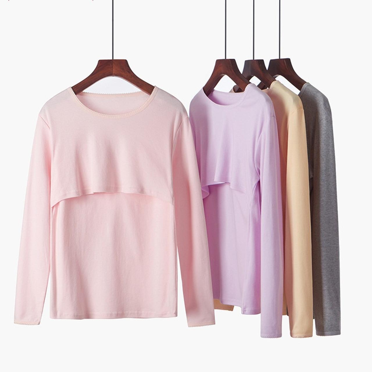 95fa619f6ae73 maternity tops for pregnant women nursing tops nursing shirts breastfeeding  t shirt pregnancy breast feeding shirt ...