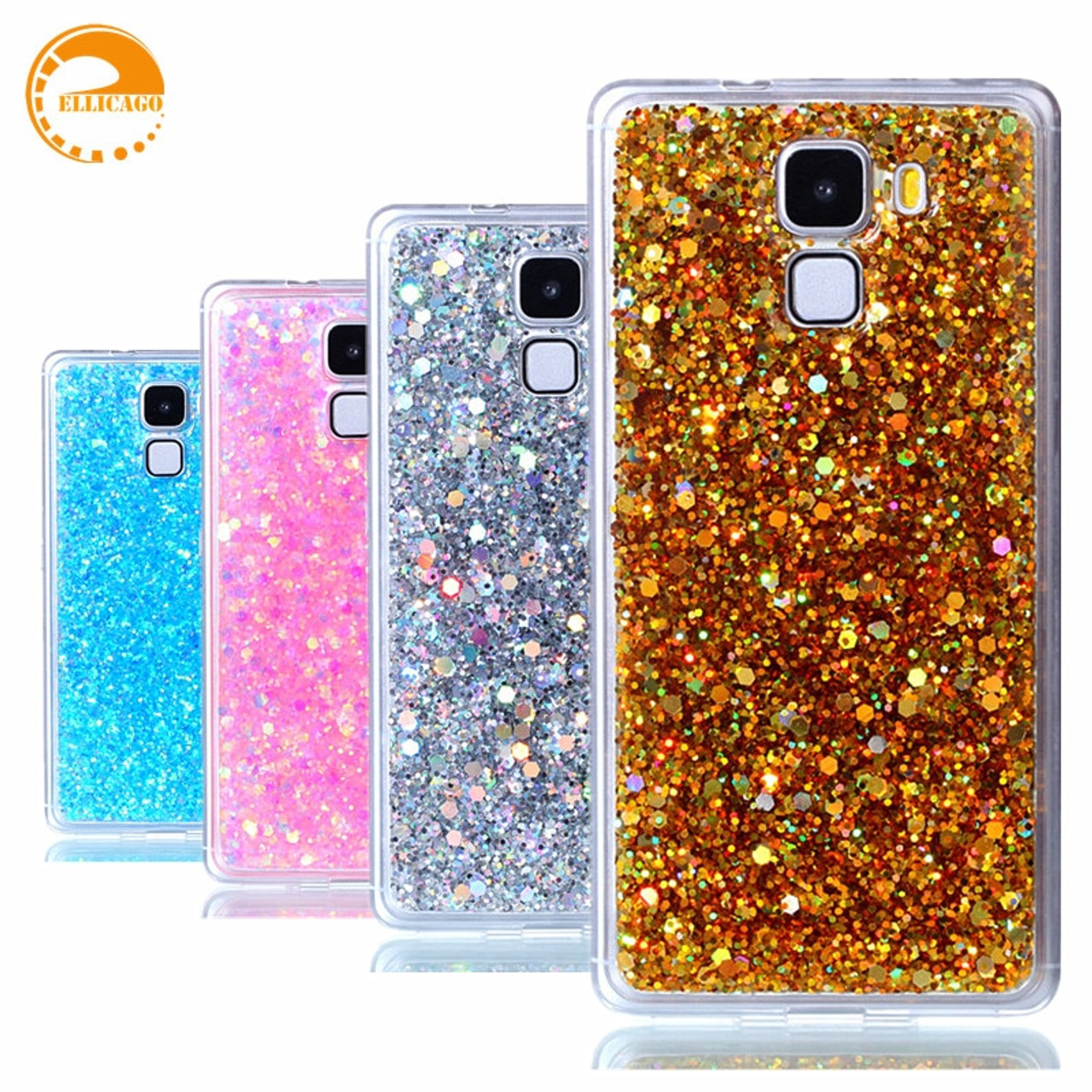 competitive price e936d 9ccf1 Huawei Honor 7 Case Cover Bling Glitter Diamond Case for Huawei Honor 7  coque Soft Silicon Phone Case