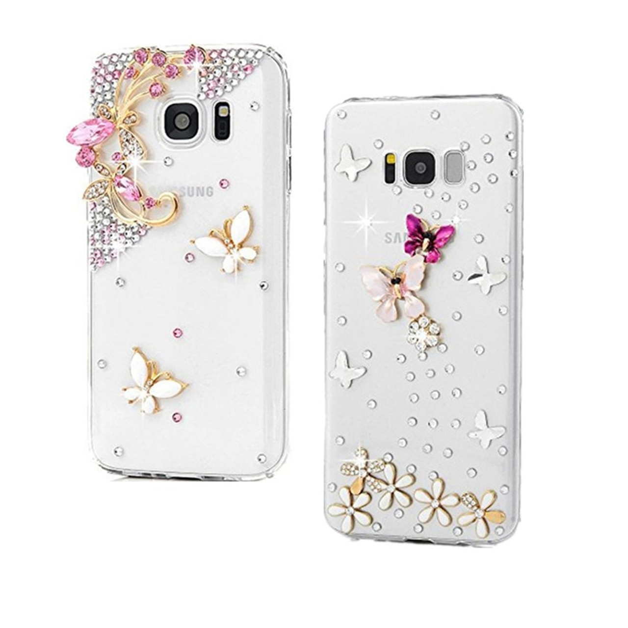 fda3186fd4b S8 Plus Diamond Bling Rhinestone Case for Samsung Galaxy J7 Neo J3 J5 A3 A5  A7 ...