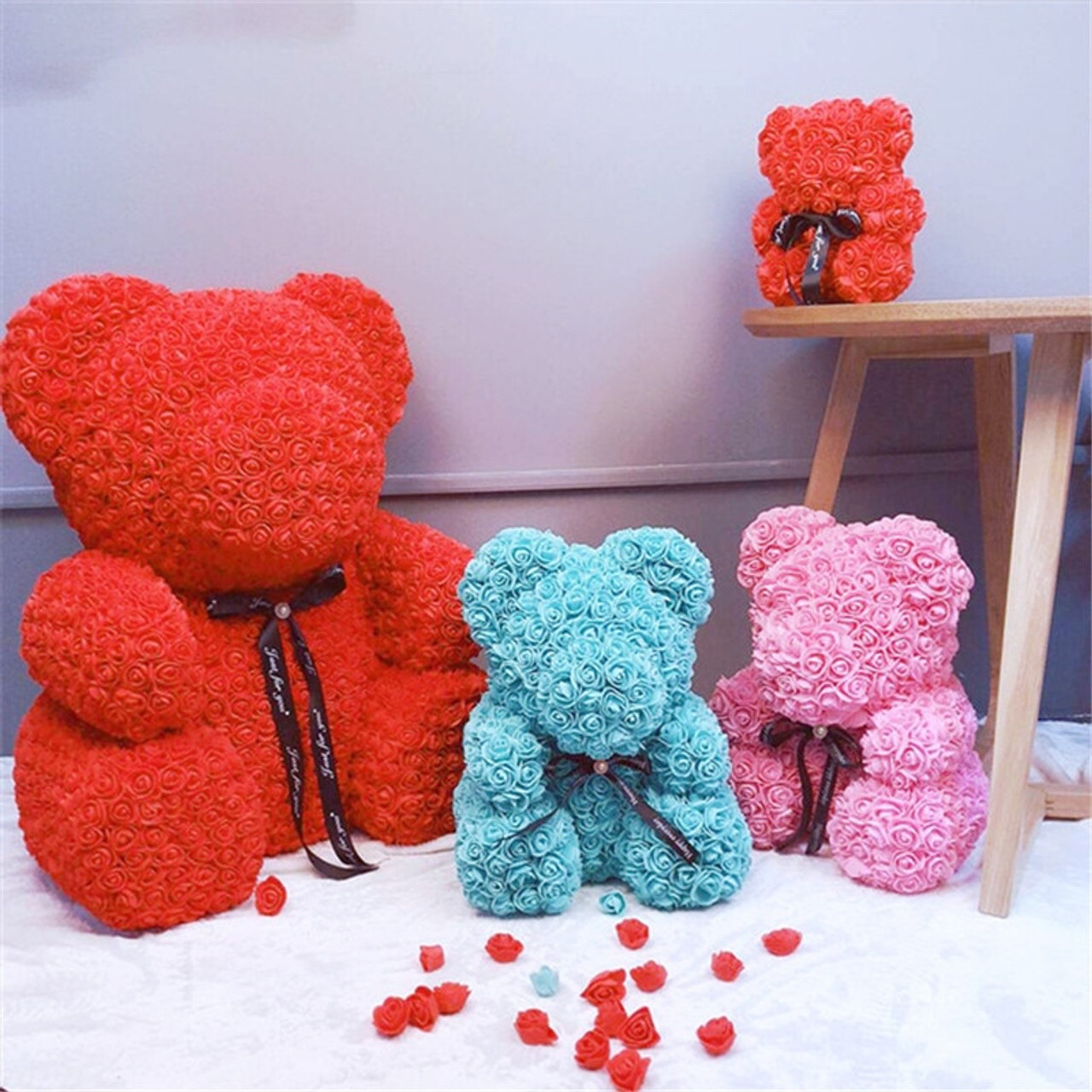 Arts & Crafts, Diy Toys Toys & Hobbies Diy Carft Rose Bear Rose Toys Flower Artificial Christmas Gifts For Women Valentines Day Gift Rose Bear