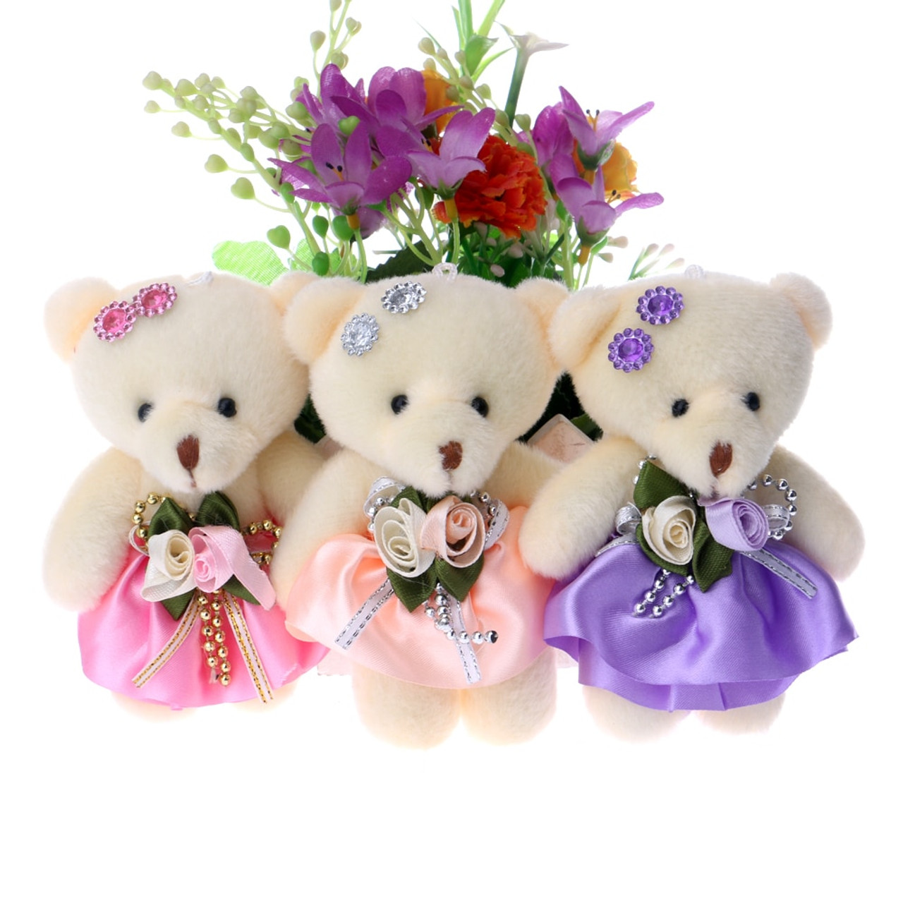 Wholesale Lot Baby Bedroom Soft Plush Toy Bear Doll Bouquet Toys Mini Teddy Bear