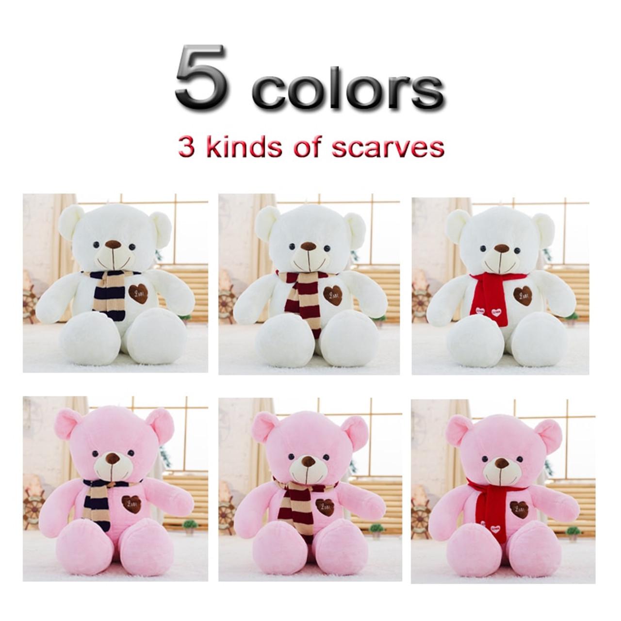 6b534f27c ... Soft Big Teddy Bear Stuffed Animal Plush Toy With Scarf 80cm100cm  Kawaii Large Bears For Kids ...