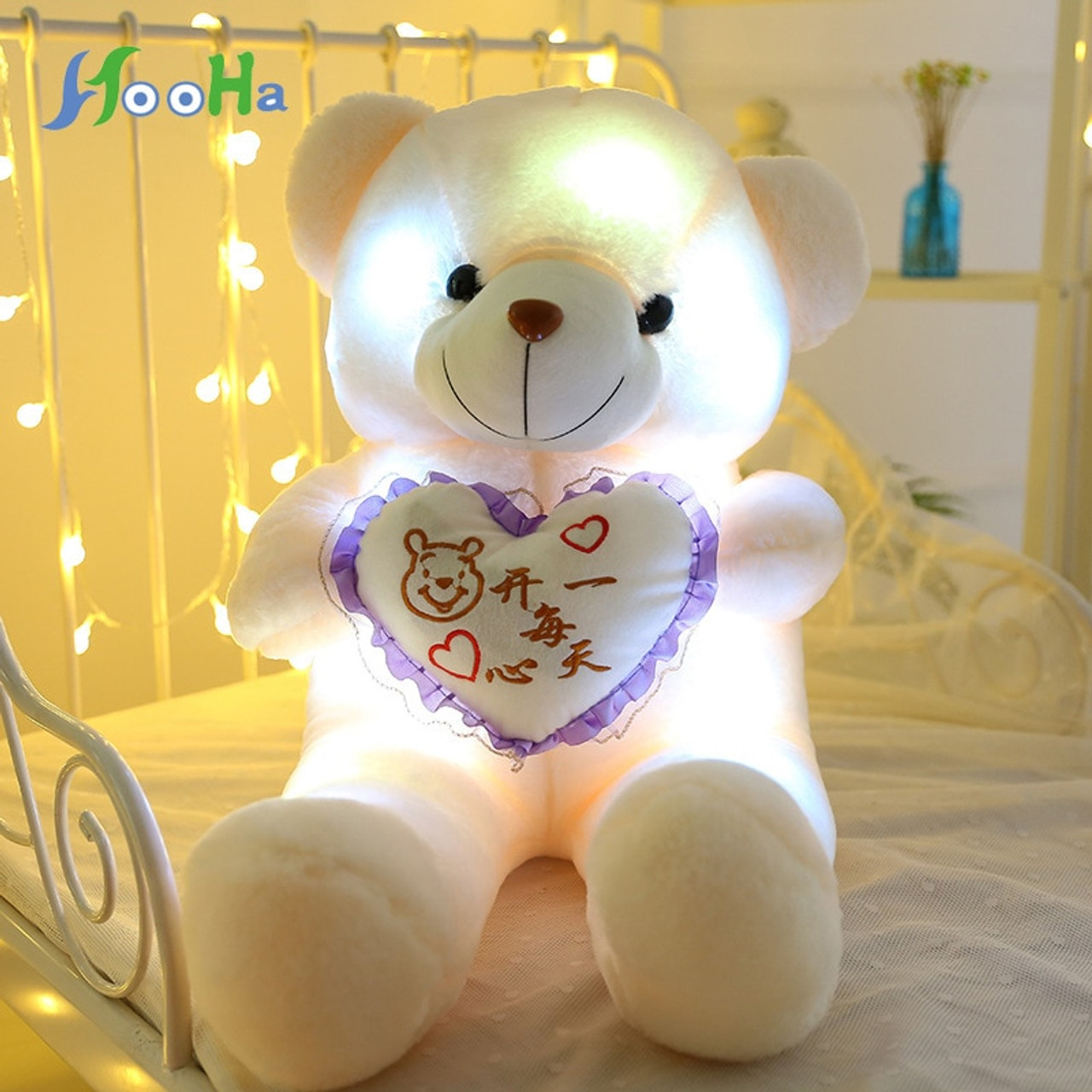 Cute Lamb Stuffed Animals, 50cm Creative Luminous Teddy Bear Led Plush Light Pillow Animals Plush Toy Colorful Glowing Christmas Gifts For Girls Present Onshopdeals Com