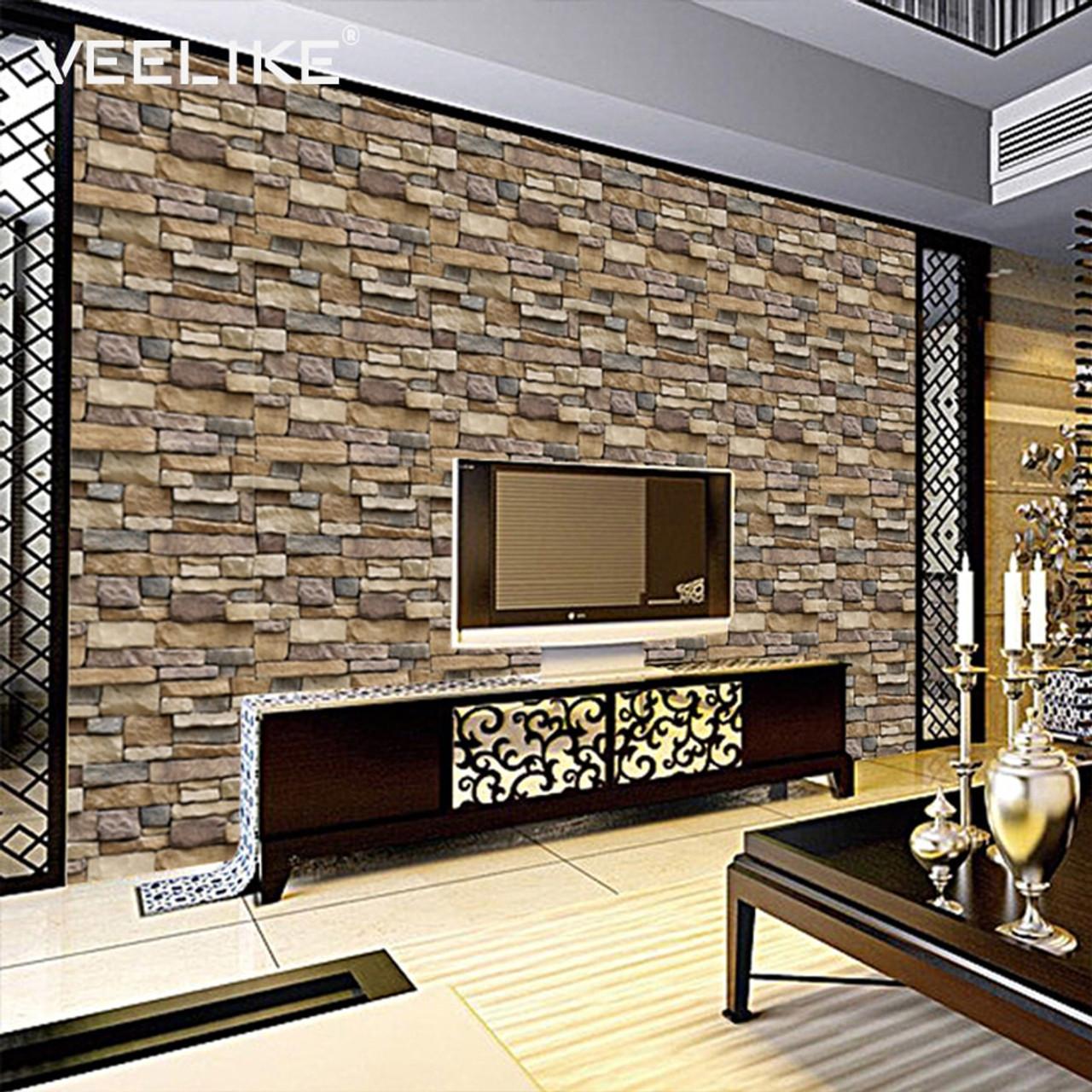 - Vintage Vinyl Brick Wallpaper For Kitchen Backsplash Bathroom