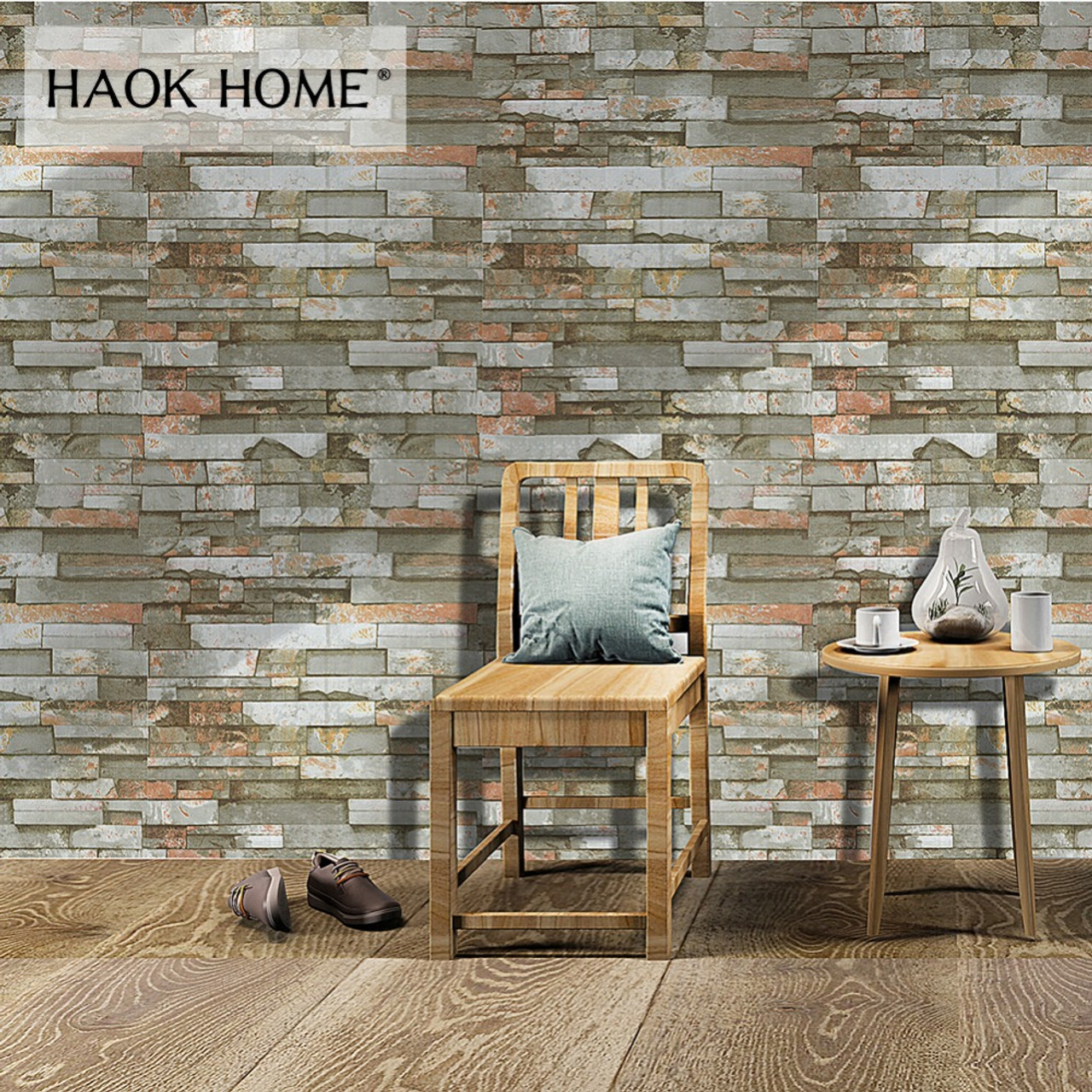 3D Retro Stone Bricks 1651 Wallpaper Decal Dercor Home Kids Nursery Mural Home