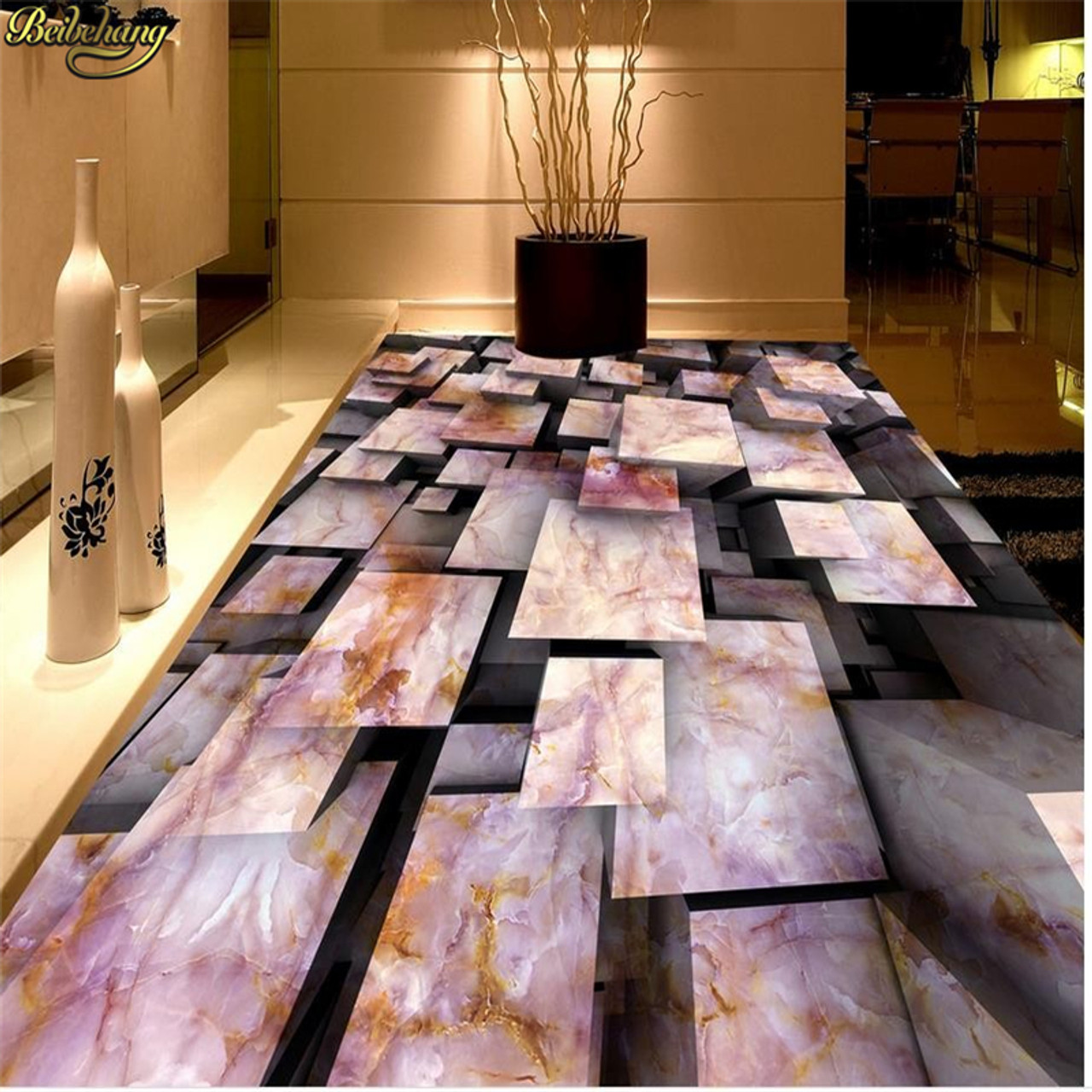 Beibehang Marble Floor 3d Bathroom Wallpaper Floor Murals Pvc Waterproof Flooring Custom Photo Self Adhesive 3d Floor