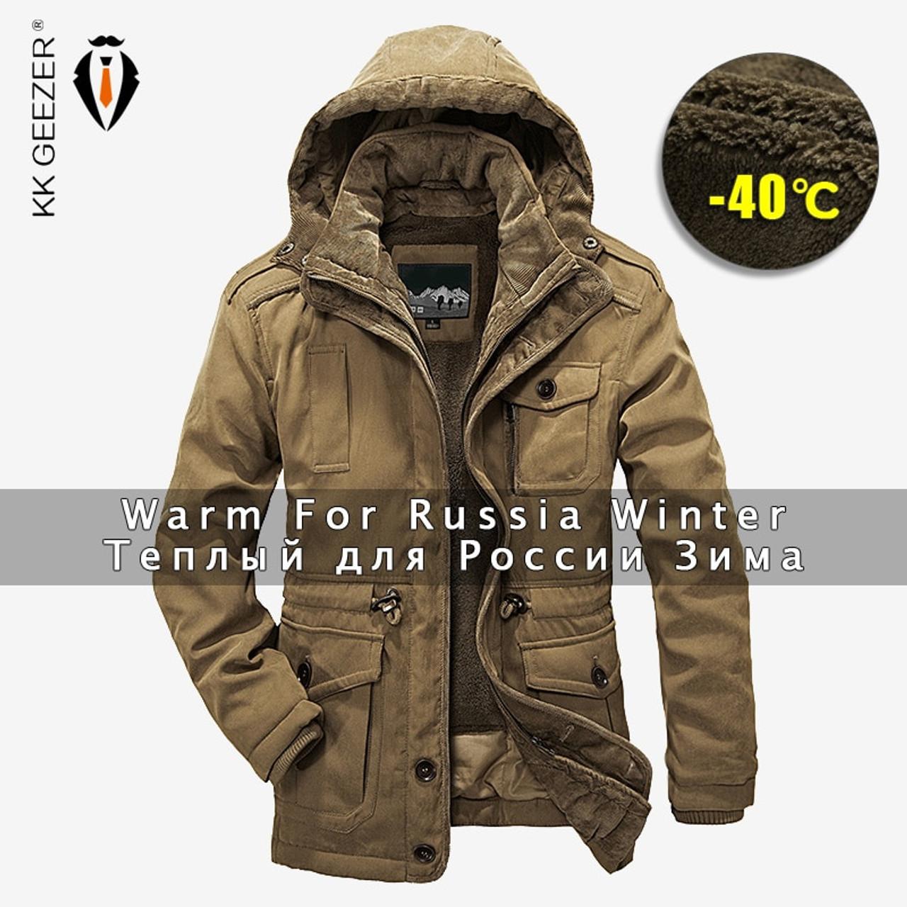 758bfdcd14e Winter Jacket Men Parkas Top Warm Waterproof Big Size 2018 Thicken Male  Heavy Wool 2 in ...