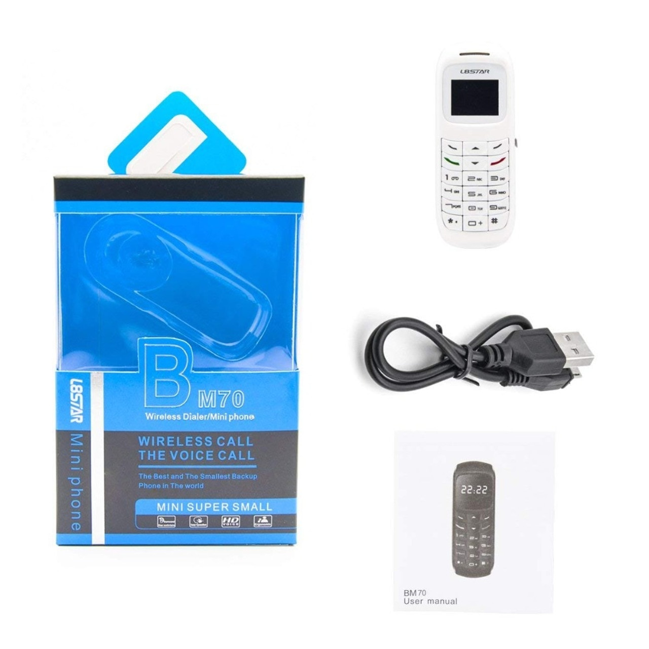 10pcs/lot Wholesale BM70 Magic voice Bluetooth headset earphone BT dialer  L8star BM10 white list cellphone mini mobile phone