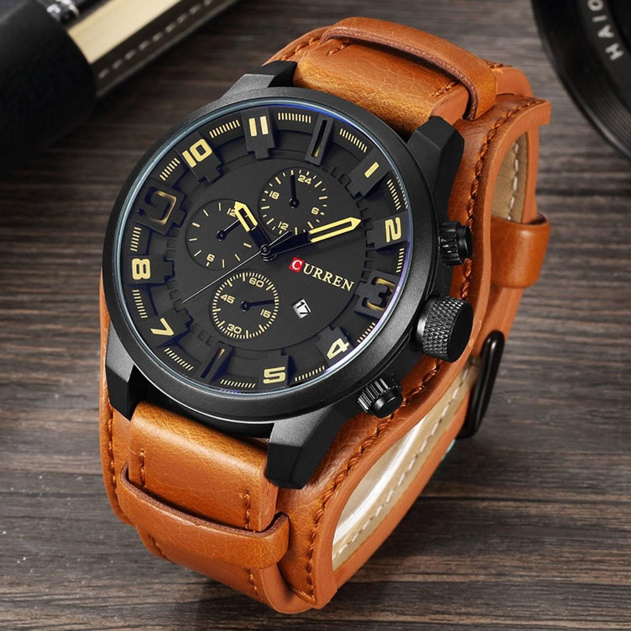 040ec09a813 relogio masculino CURREN Watch Men Military Quartz Watch Mens Watches Top Brand  Luxury Leather Sports Wristwatch ...