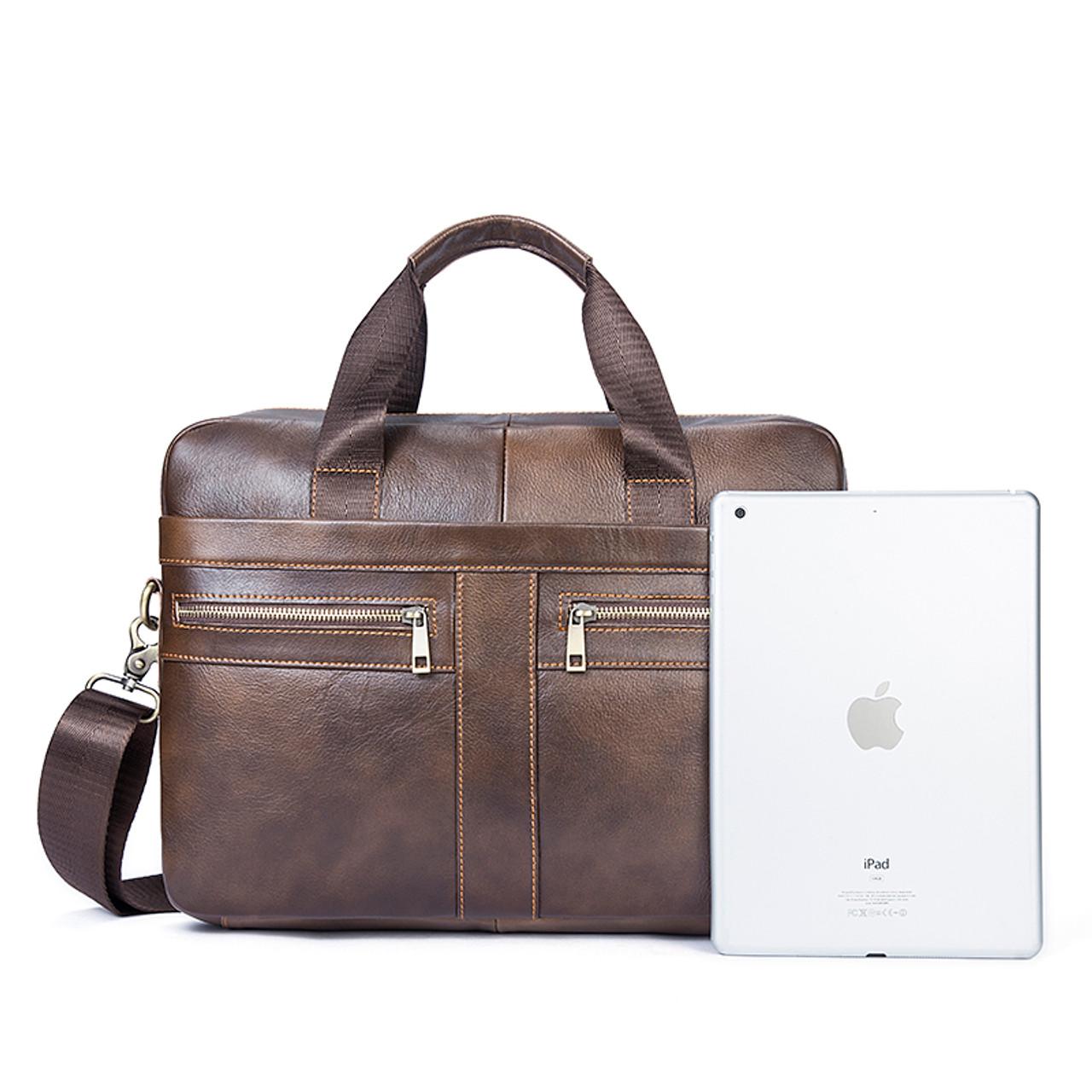 46441f8d6d ... WESTAL Genuine Leather Men Bags Briefcases Men s Messenger Bag Cowhide  Leather Laptop Crossbody Handbag Male Business ...