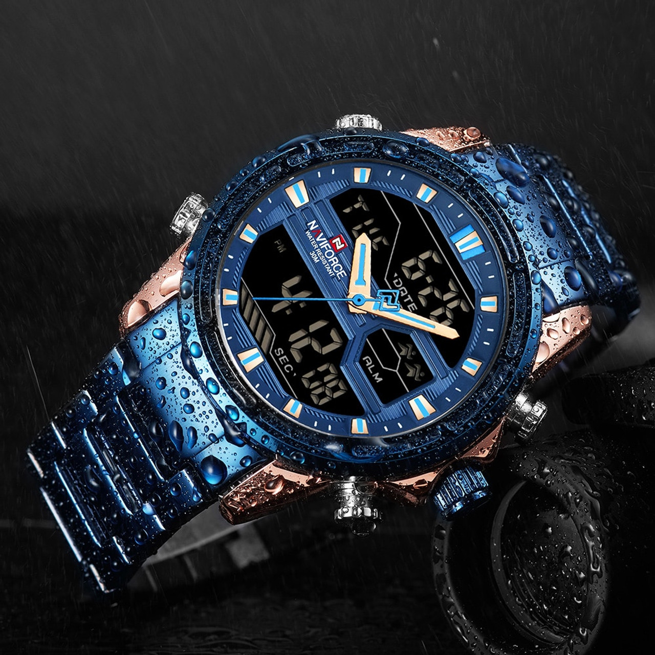 9f764852f Man Stainless Army Military Wrist Watch NAVIFORCE Luxury Brand Men Watch  Fashion Sports Watches Men's Waterproof ...