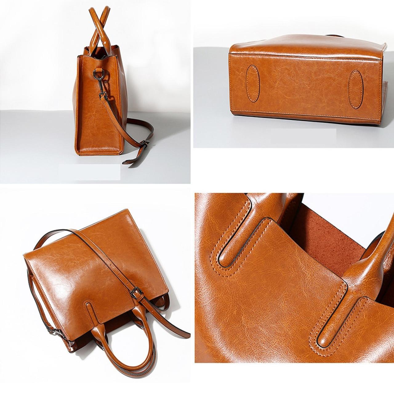 443a1a0b61 ... LAN LOU Genuine Leather Shoulder bag Ladies Vintage HandBags Luxury Women  bag Designer Brand Bags for ...