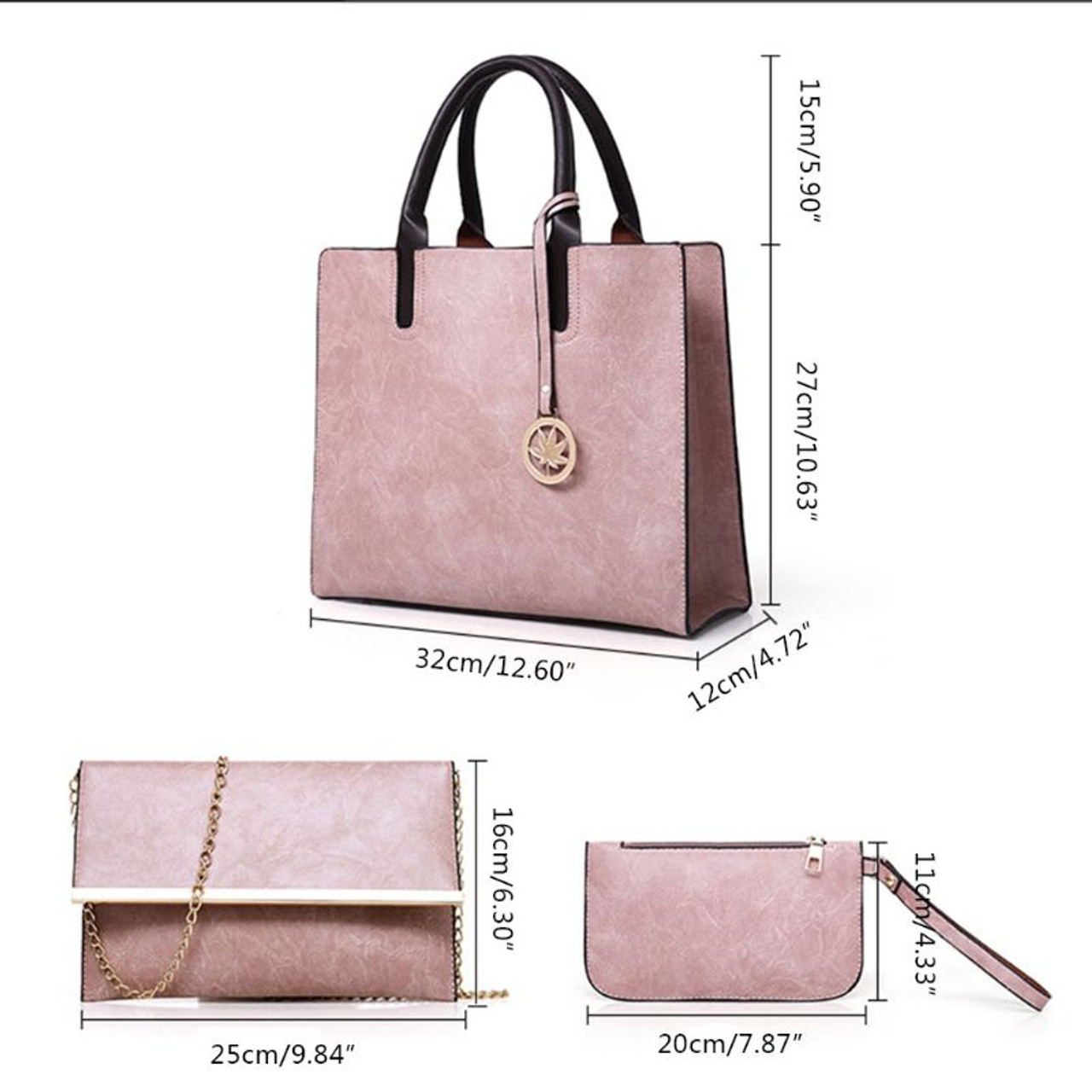 b10f44cc19e ... 2018 Women s Bags Set 3pcs Women s Large Leather Bag Ladies Shoulder  Tote Fashion Messenger Bag Luxury ...
