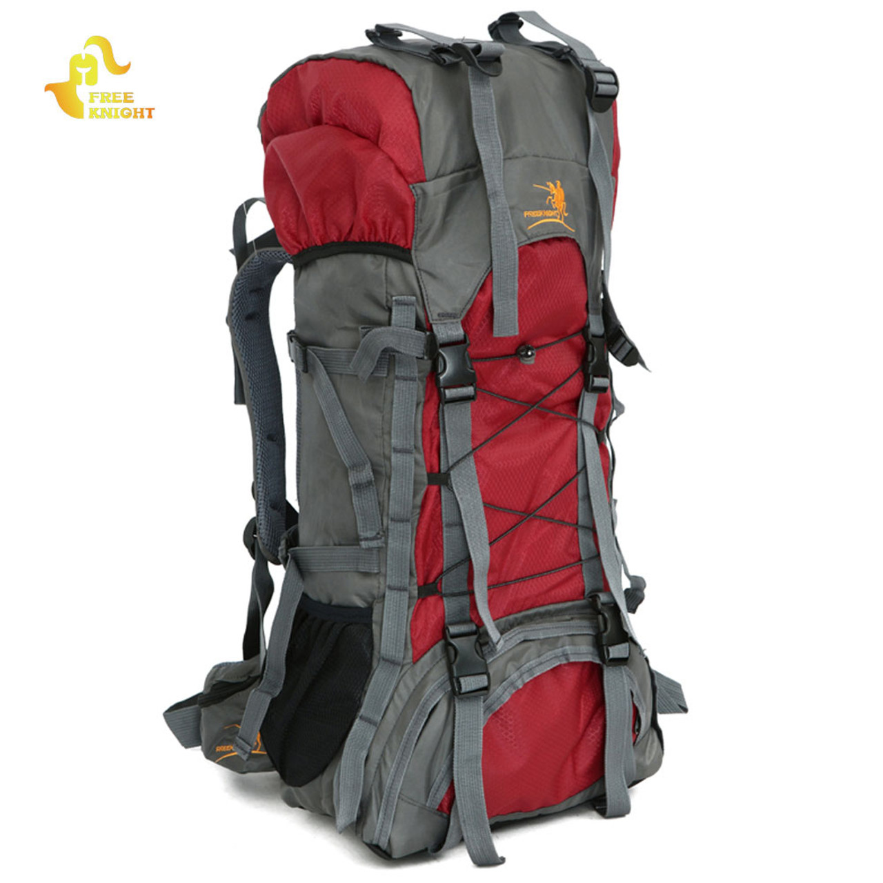 ... Free Knight Extra Large 60L Nylon Waterproof Mountaineering Backpack  Outdoor Sport Climbing Hiking Traveling Picnic Bag ... f1f9294b7b935