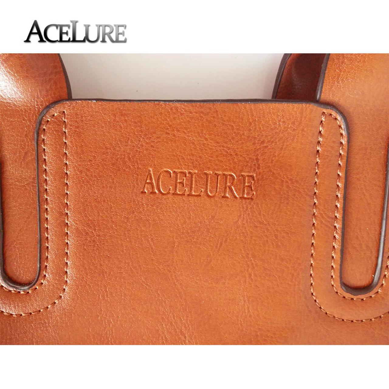d02d04171385 ... ACELURE Leather Handbags Big Women Bag High Quality Casual Female Bags  Trunk Tote Spanish Brand Shoulder ...