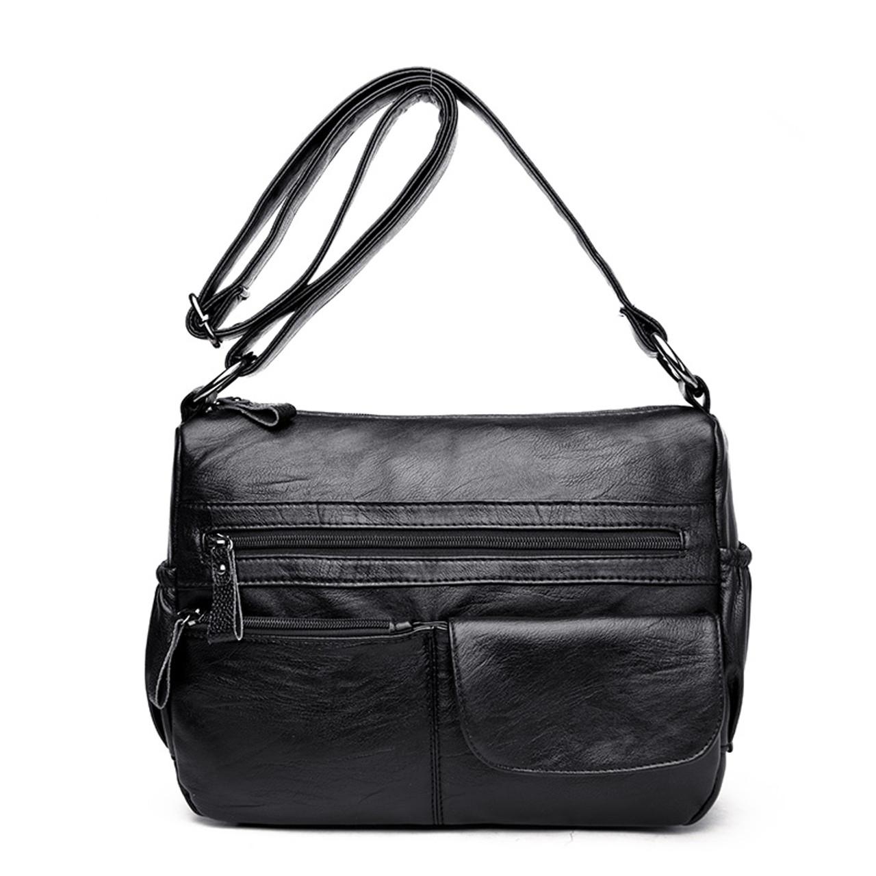 dbcd962924a0 ... Kavard Brand Women Messenger Bags Shoulder Designer High Quality  Leather Bags Women Double Zippers Crossbody Bags ...