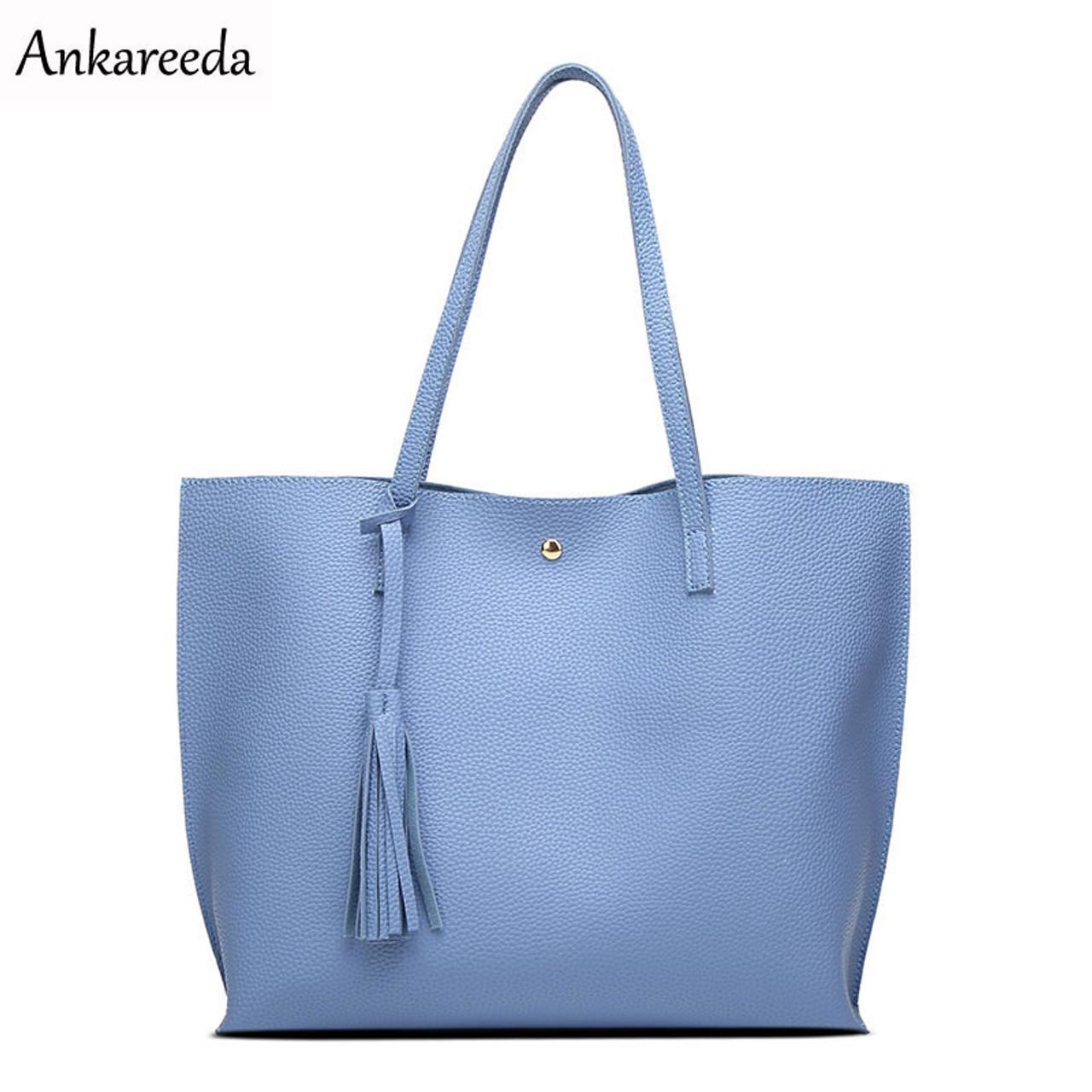 Ankareeda Luxury Brand Women Shoulder Bag Soft Leather TopHandle Bags  Ladies Tassel Tote Handbag High Quality Women's Handbags - OnshopDeals.Com