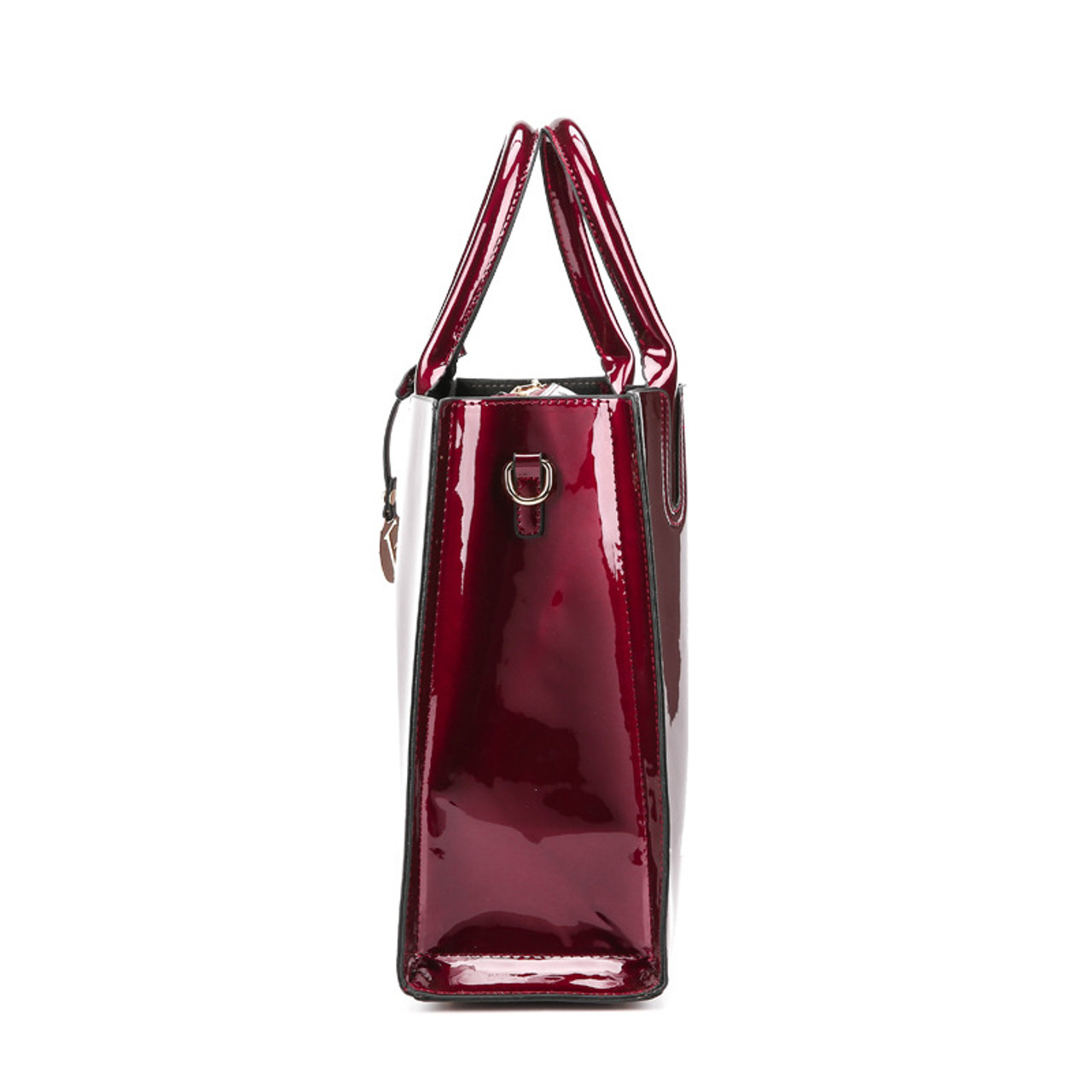 3f29fd4b356 ... Bonsacchic Red Patent Leather Tote Bag Handbags Women Famous Brands  Lady s Lacquered Bag Red Handbag for ...