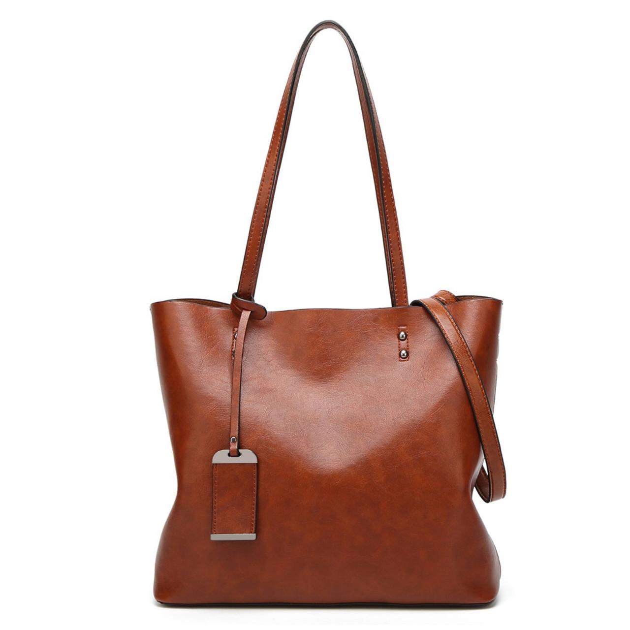 0db6ec10e71 ... GORONLY Brand New Leather Tote Bag Women Handbags Designer Large  Capacity Shoulder Bags Fashion Lady Purses ...