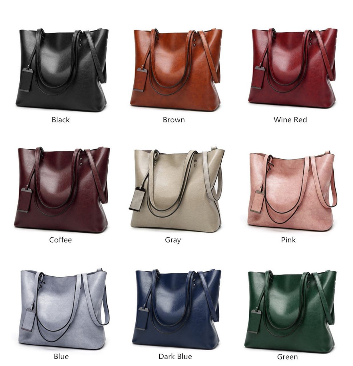613925759a ... GORONLY Brand New Leather Tote Bag Women Handbags Designer Large  Capacity Shoulder Bags Fashion Lady Purses ...
