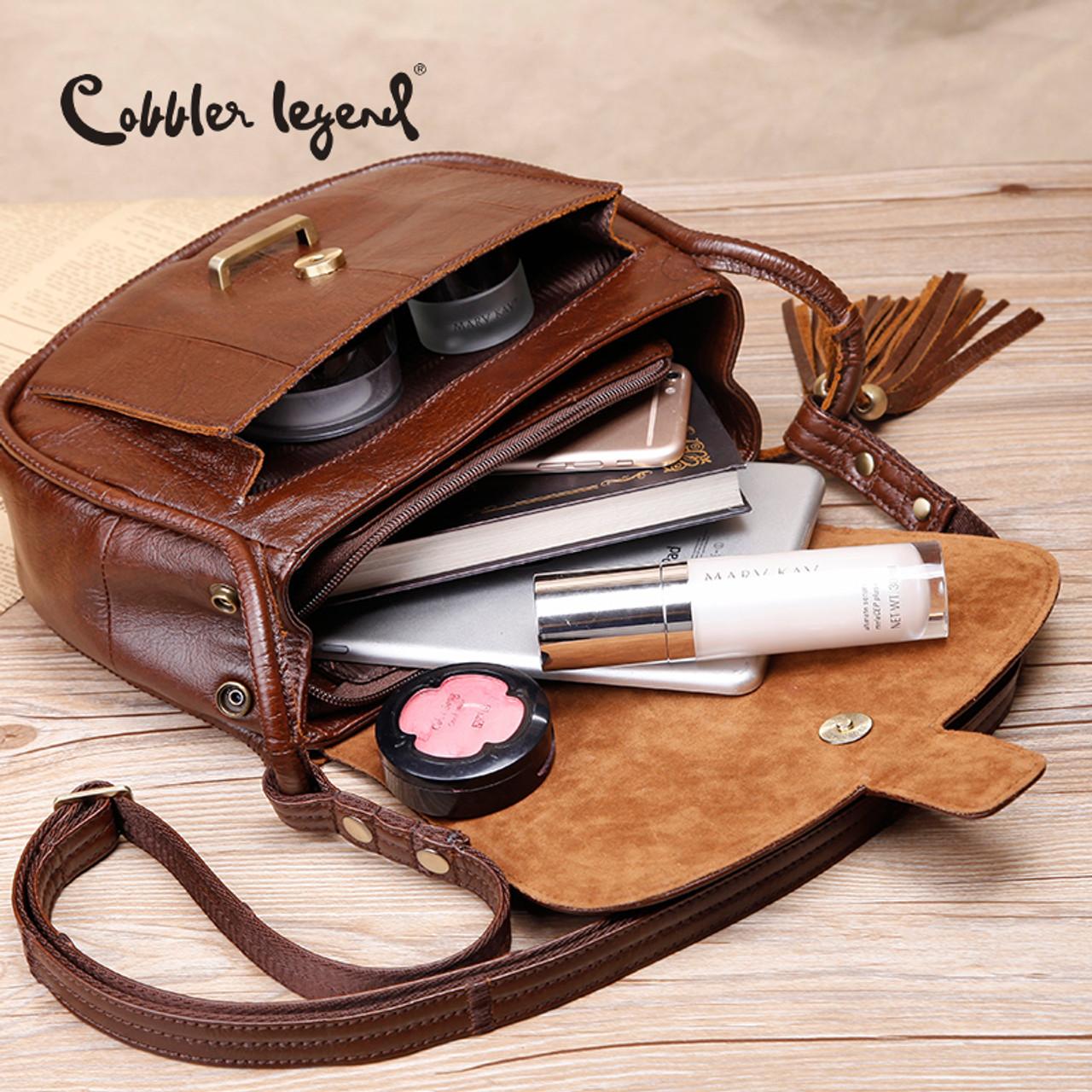 9ce636a5de18 ... Cobbler Legend Brand Designer 2017 Women s Genuine Leather Vintage  Single Shoulder Bag Women Crossbody Bags Handbags ...