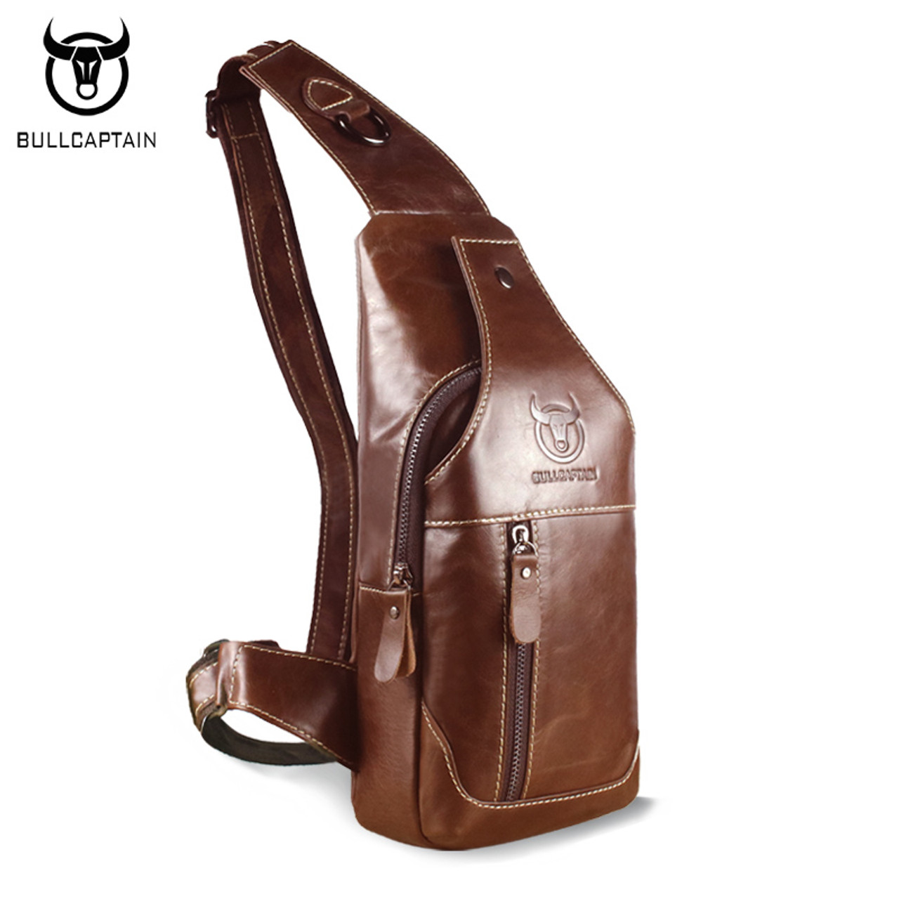 7f883b3bd6f BULL CAPTAIN 2017 Fashion Genuine Leather Crossbody Bags men casual  messenger bag Small Brand Designer Male Shoulder Bag 019 - OnshopDeals.Com