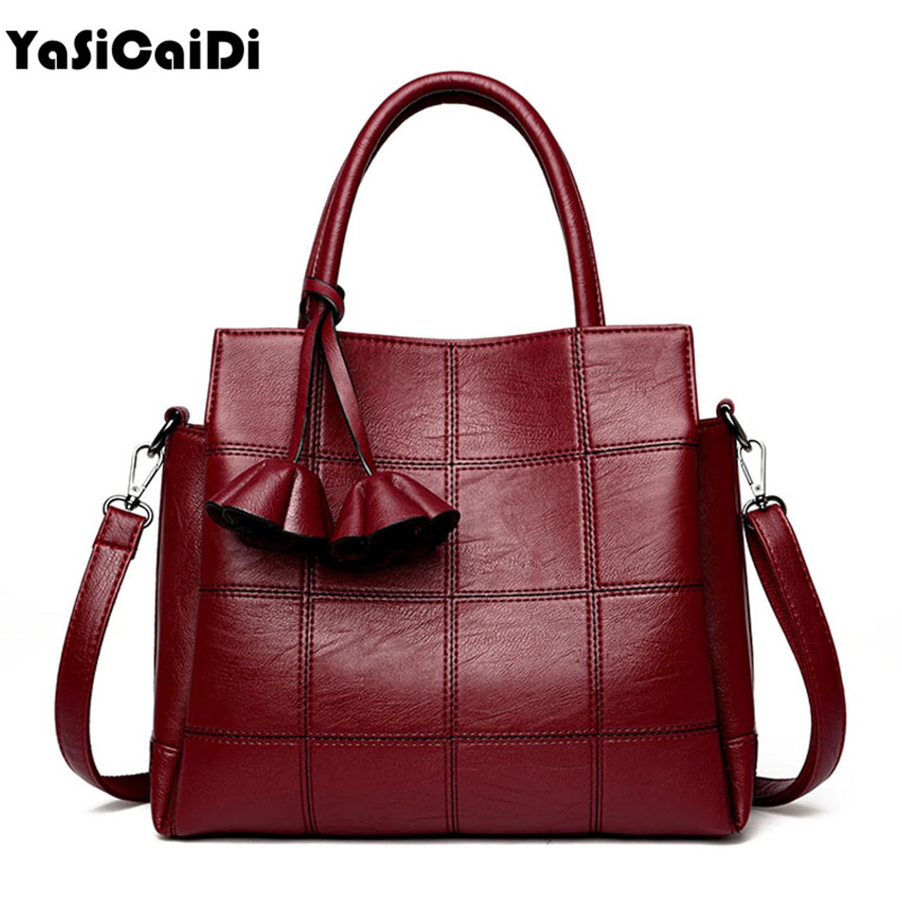 62167aca8c70 YASICAIDI Fashion Pu Leather Women Shoulder Bags Famous Designer Vintage  Tassel Large Women Messenger Bags Ladies Tote Bags Sac