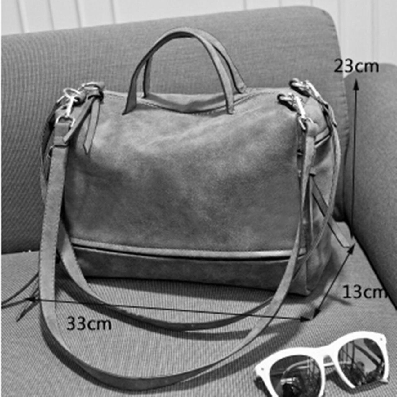 faf482a5c476 ... Bolish Brand Fashion Female Shoulder Bag Nubuck Leather women handbag  Vintage Messenger Bag Motorcycle Crossbody Bags ...