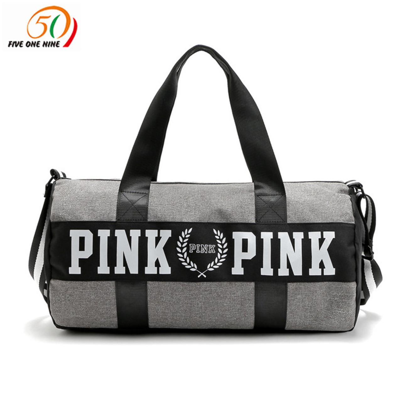 ... fashion girl stripe duffle bag pink Victoria beach shoulder bag large  capacity secret Overnight weekender vs ... f29576547d