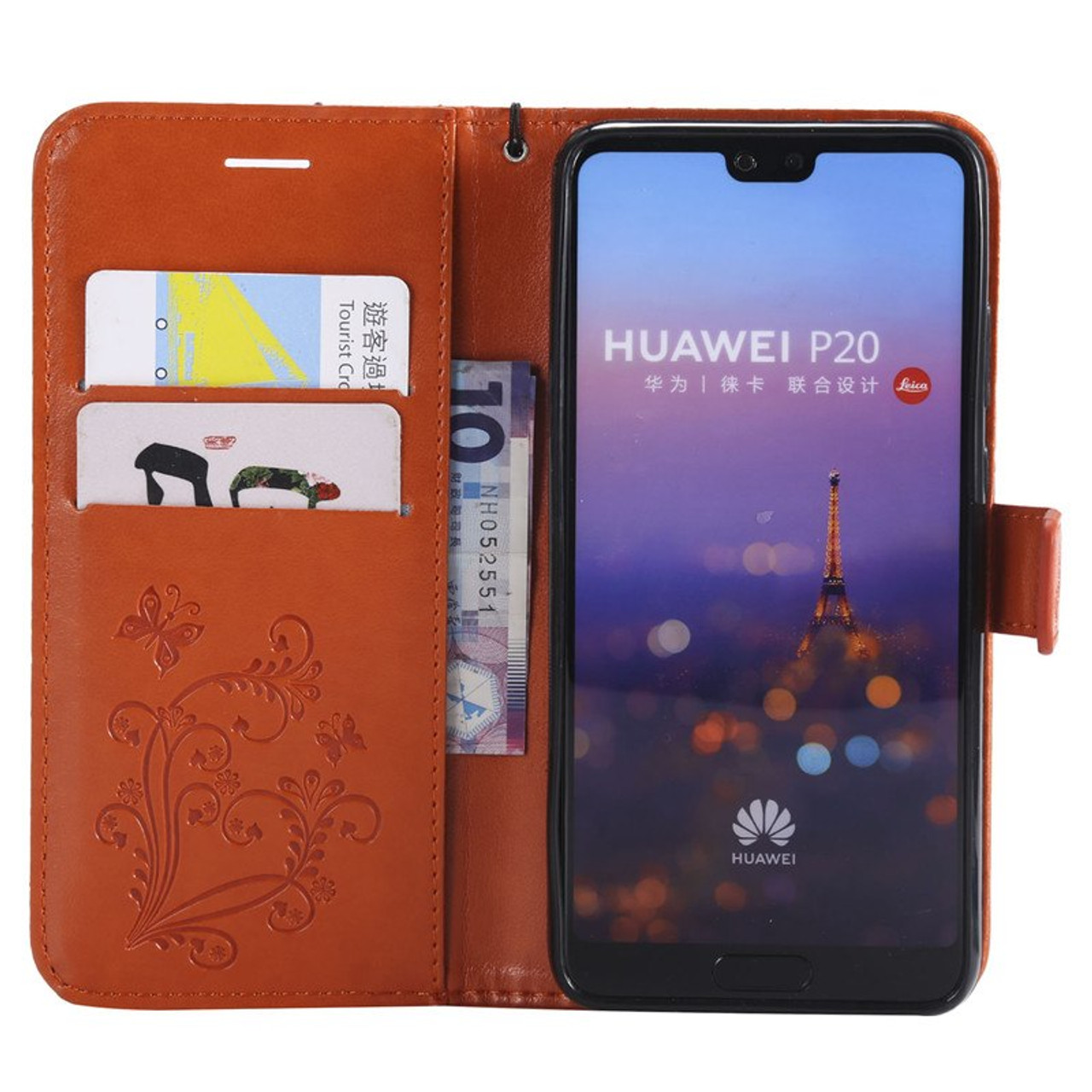 online store 1f4d6 0b2a0 Butterfly Leather Flip Case for huawei P8 P9 P10 P20 Lite Mate 8 9 10 Y6 II  Y7 Y8 Pro honor 8 9 Lite enjoy 7S 8 2016 2017 2018