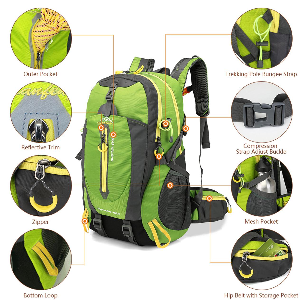 6fe71ef4fc ... 40L Waterproof Climbing Bag Travel Backpack Bike Bicycle Bag Camping  Hike Laptop Daypack Rucksack Outdoor Men ...