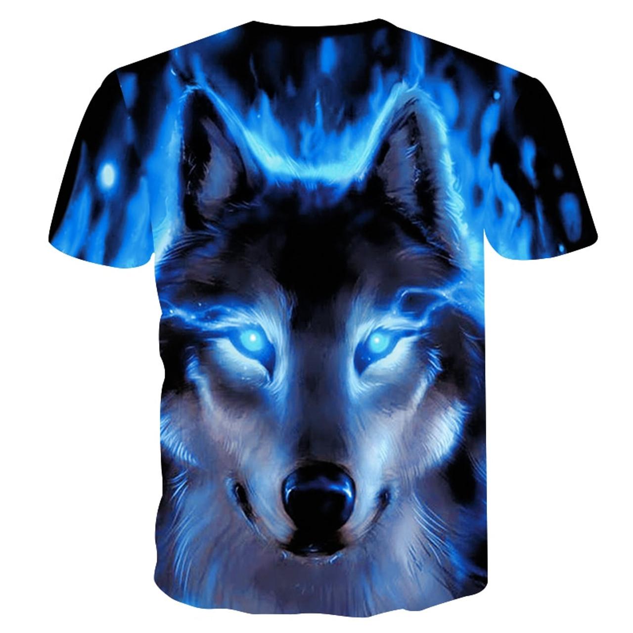 d388cf08 ... 2018 Newest Wolf 3D Print Animal Cool Funny T-Shirt Men Short Sleeve  Summer Tops ...