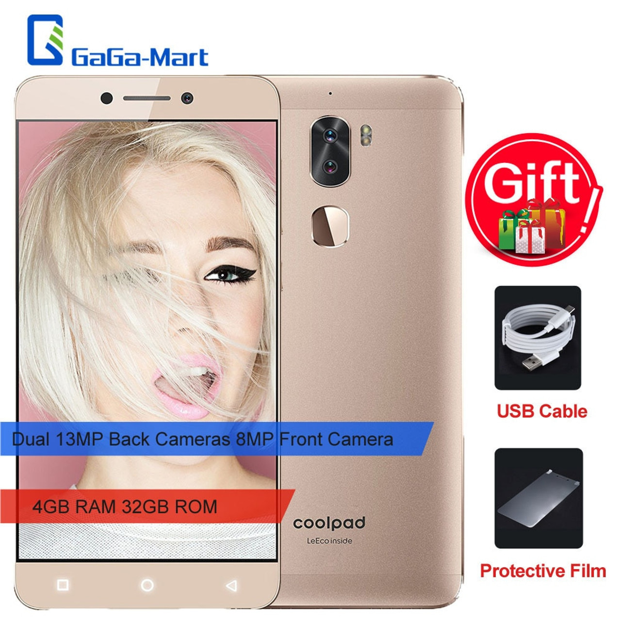 Letv leeco Coolpad Cool 1 Smartphone 5 5-Inch 4GB RAM 32GB ROM Dual 13MP  Back 8MP Front Camera Recognition 4000mAh phone