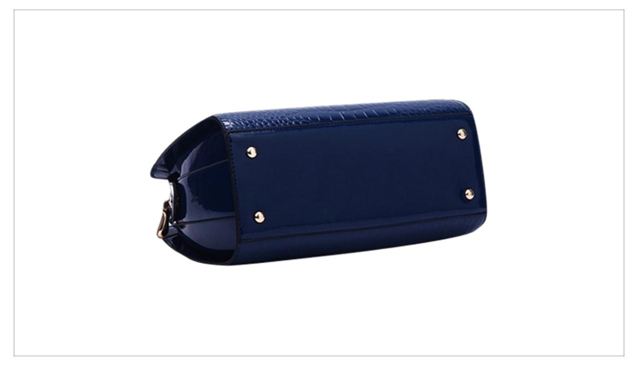 ... Charm in hands Elegant Alligator Patent Leather Women Handbag Big  Women s Shoulder Bags Cross Lock Design ... 797ec03047