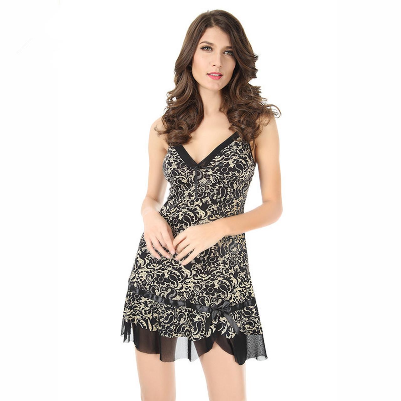 1c955513de JiaHuiGe Faux Silk Fashion Sexy Women Nightgown Summer Sleepwears  Sleeveless Dresses Women Size Sexy Sleepwear Nightgown ...