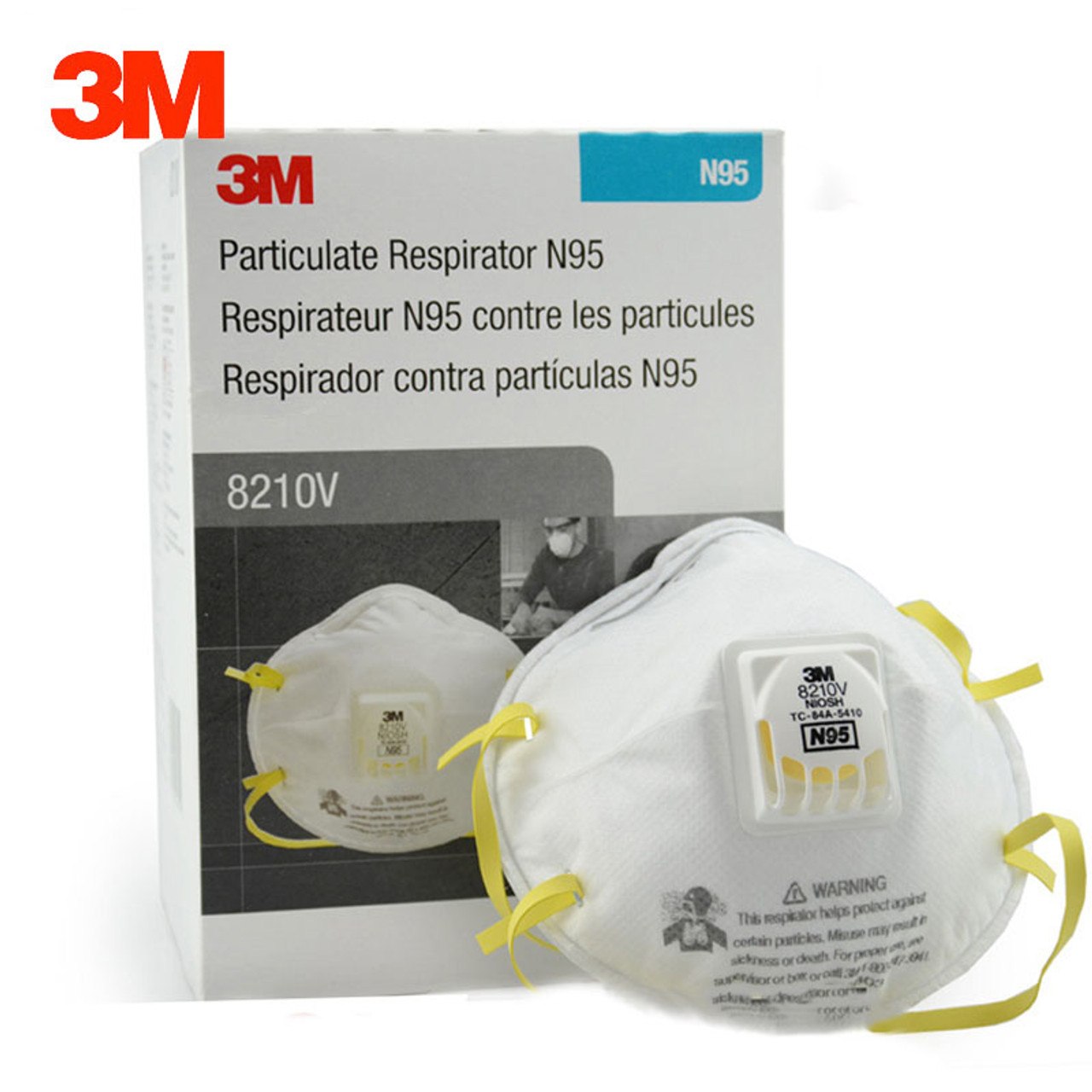 Mask N95 Dust box Industrial Particulate Safety Particles Anti-pm2 Respirator 3m Anti 10 8210v Masks Pcs Dustproof 5 Breathing