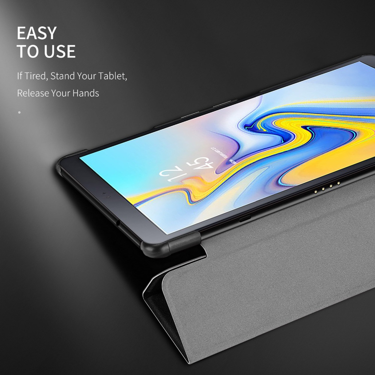 e7968eed4bd ... DUX DUCIS PU Leather Case for Samsung Galaxy TAB A2 10.5 Smart Flip  Cover for Samsung ...