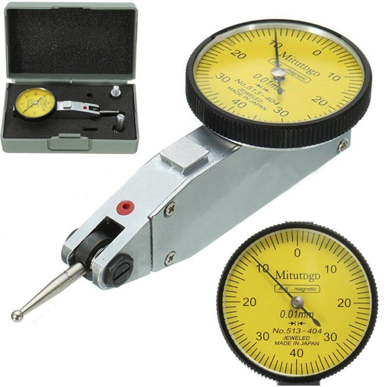 NEW 0.01mm Accurancy Dial Quick-Set Test Indicator Gauge Scale dovertail 0-40-0