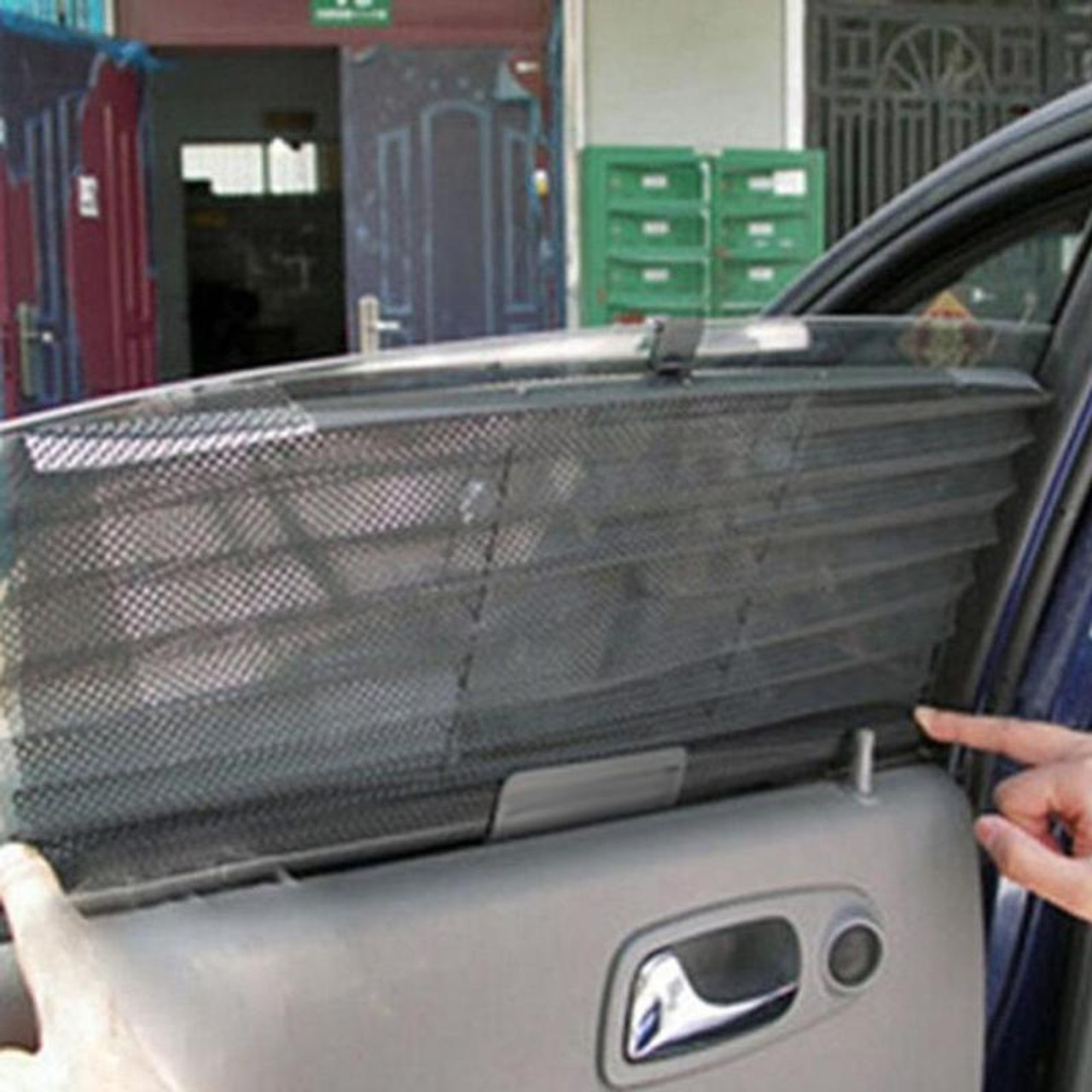 ... Curtain Black Side Rear Glass Sunshade Sun Shade Cover Mesh Visor Shield  Auto Windshield Sun Shade ... c5c2f37d61e