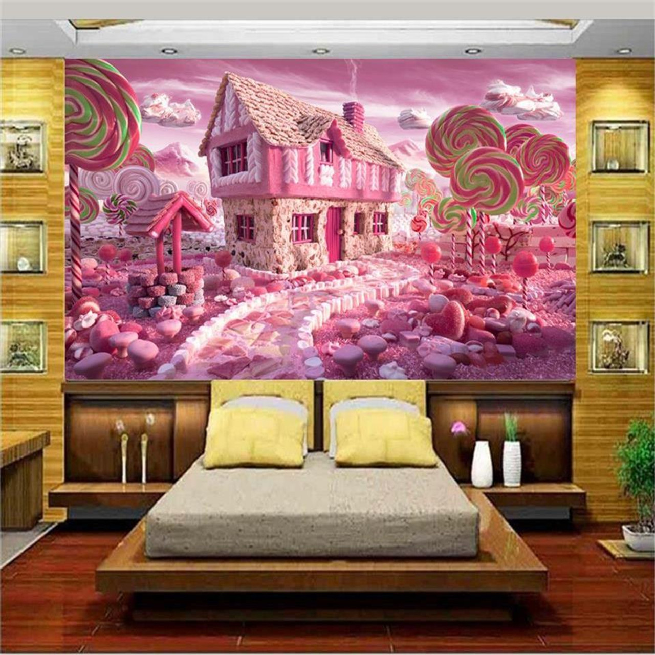 3d Wallpaper Custom Photo Wallpaper Kids Mural Glass Candy House Tv Background Painting 3d Wall Mural Wallpaper For Living Room
