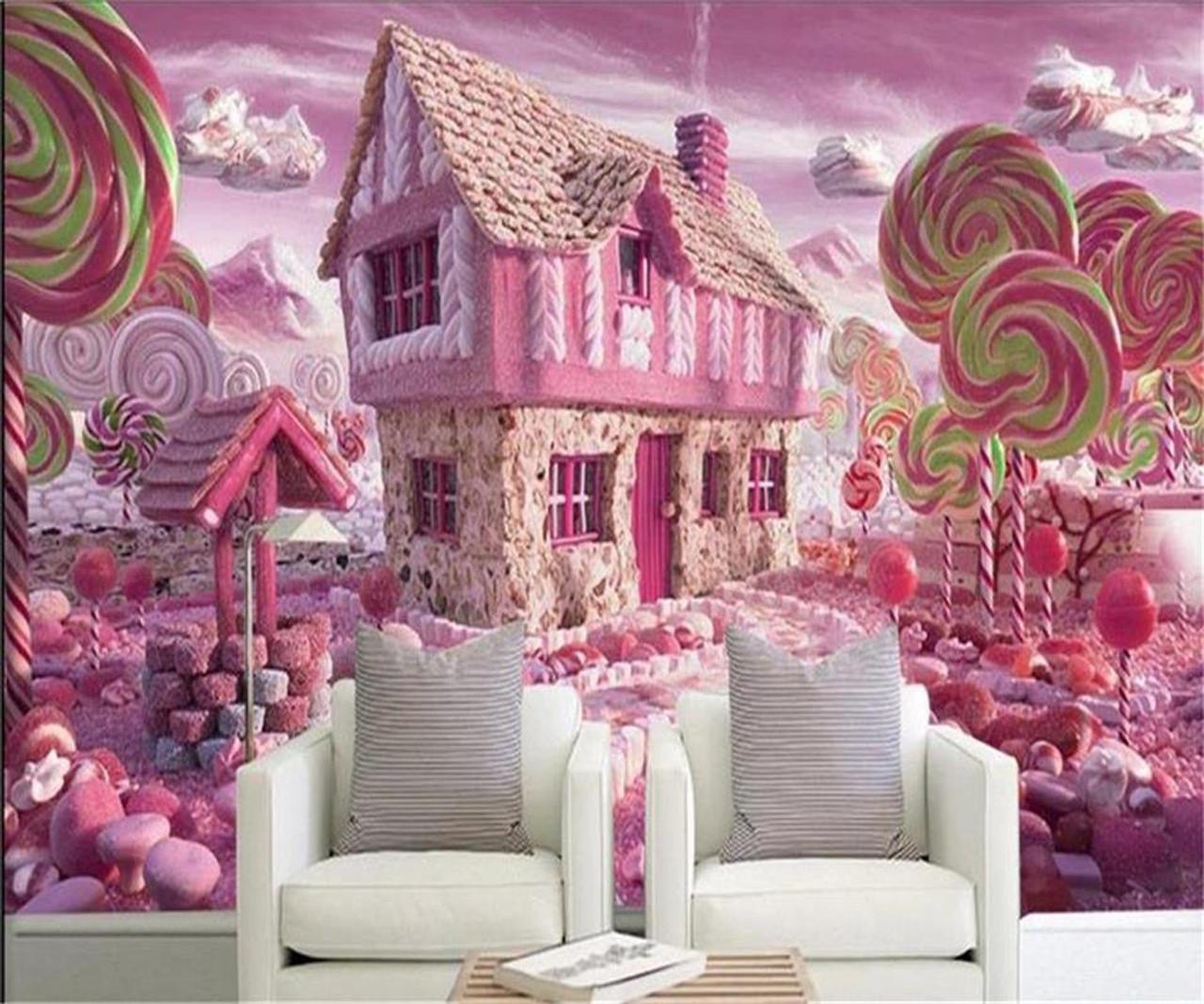 3d Wallpaper Custom Photo Wallpaper Kids Mural Glass Candy House