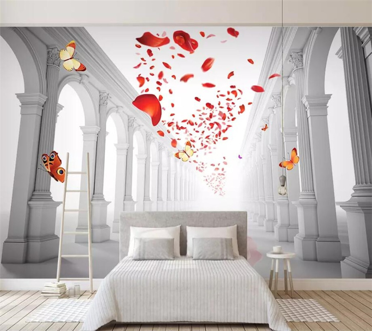 beibehang Custom wallpaper 3d photo murals European romantic wedding hall living room TV background wall painting  87687.1549108330