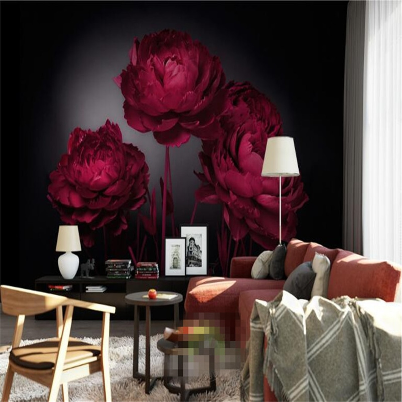 Beibehang 3d Wallpaper Romantic Red Roses Tv Background Wall Living Room Bedroom Background Mural Photo Wallpaper For Walls 3 D Onshopdeals Com