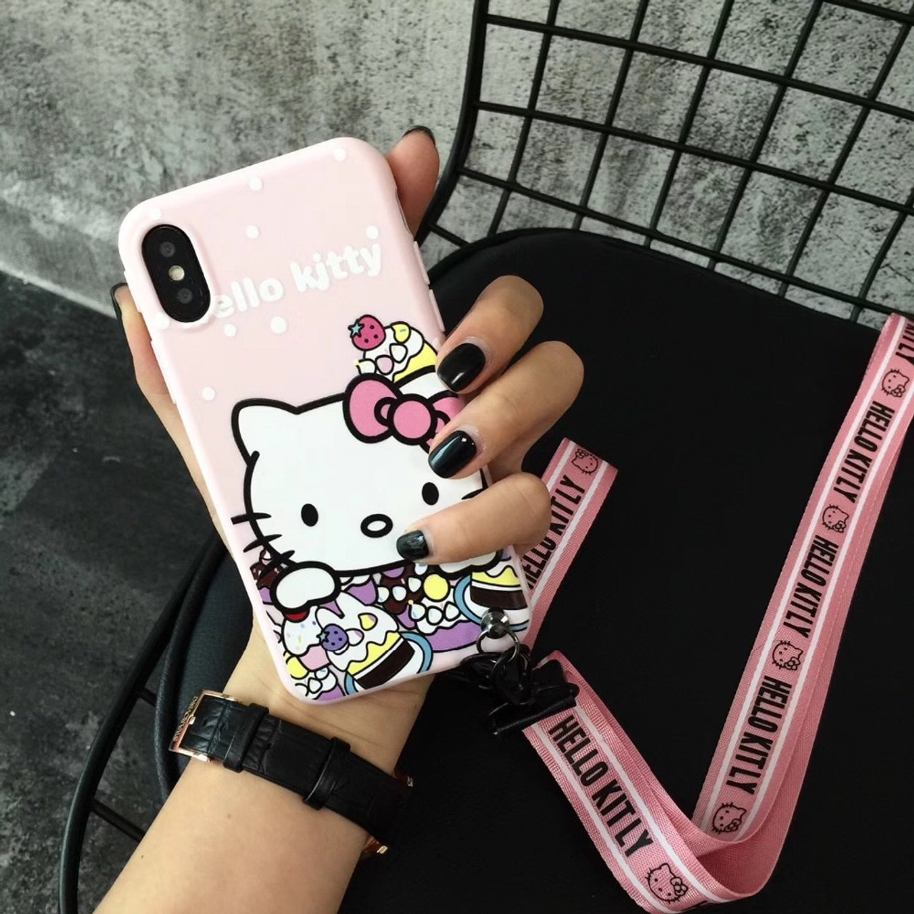 2a524b9a8c ... For iPhone 7 Relief Hello Kitty Pattern Soft TPU Phone Case For iphone  6 6S Plus ...