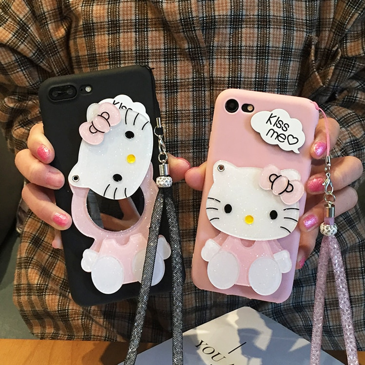 afbf19dbf For samsung galaxy note 9 Mirror case Cartoon Hello Kitty Soft Phone Cases  For SAM s9 ...