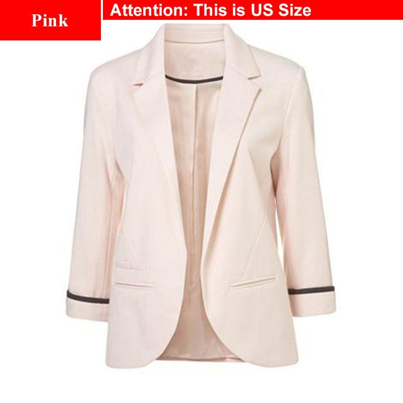 6b50b0bf9d59 ... Ladies Plus Size Yellow Blazer Feminino Formal Jacket Women S White Blazer  Female Blue Women Suit Office ...