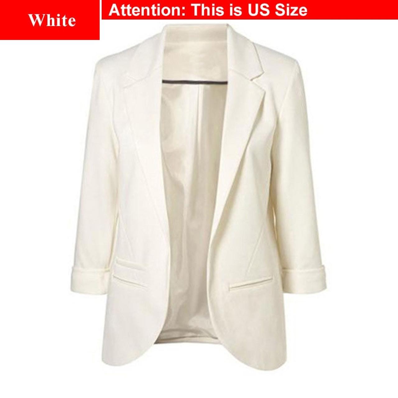 sconto in vendita doppio coupon cerca genuino Ladies Plus Size Yellow Blazer Feminino Formal Jacket Women'S ...