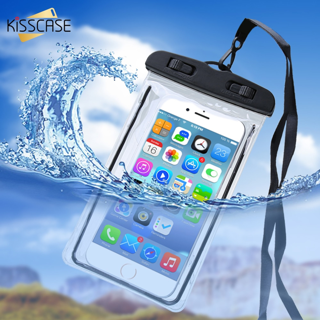 Phone Pouch Luminous Waterproof Bag Underwater Pouch Phone Case For Iphone Samsung Galaxy Huawei Xiaomi Redmi Cell Phone Universal All Model