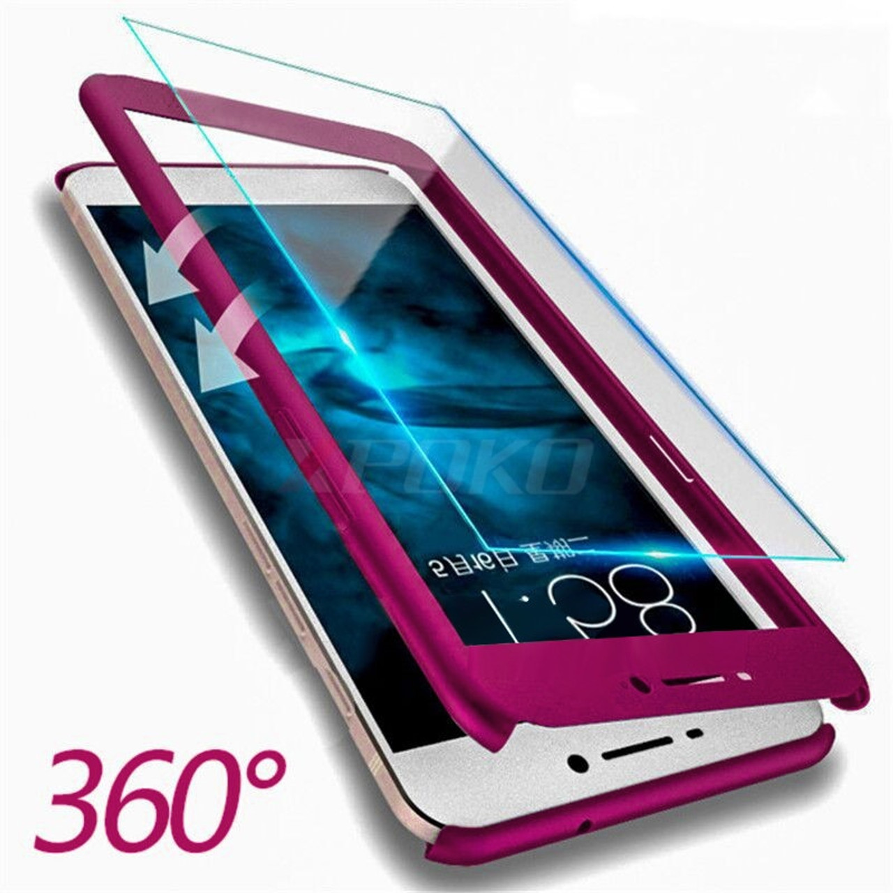 pretty nice ee4d7 02af8 XPOKO 360 Degree Full Cover Cases For Huawei P10 P9 Lite Plus Honor 9 Case  With Tempered Glass Phone Cover For Honor 9 Lite Case