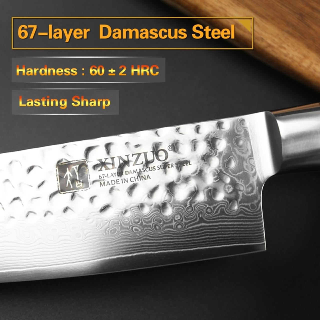 Xinzuo 8 Chef Knife Chinese 67 Layers Damascus Steel Kitchen Knife Newarrive Professional Vg10 Cooking Knife Pakkawood Handle